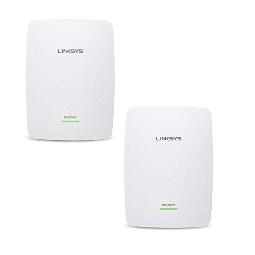 Linksys RE4000W N600 Range Extender (Pack of 2) (Refurbished) by Linksys