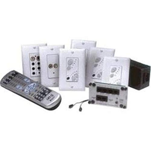 ON-Q Lyriq - Kits in Classic Design Lyriq Single-Source Four Zone Kit with Keypads & Flush-Mount Input White (AU1012-WH)