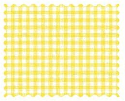 (SheetWorld 100% Cotton Percale Fabric by The Yard, Primary Yellow Gingham Woven, 36 x 44)
