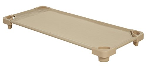 ECR4Kids Stackable Assembled Standard Kiddie Cot, Sand for sale  Delivered anywhere in Canada