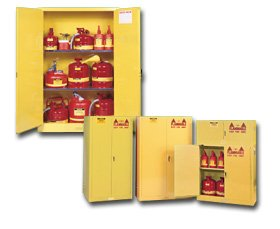 Manual Deluxe H/d (Justrite, Safety Storage Cabinets - Two Door Manual Type, H25450, Size H X W X D: 65 X 43 X 18