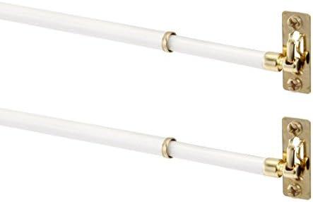 21-38, 2 Pack 5//16 Diameter, Mainstay White Sash Rod