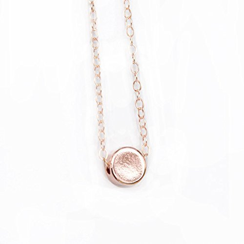 Amazoncom Handmade Rose Gold Dot Necklace Tiny Rose Gold Dot