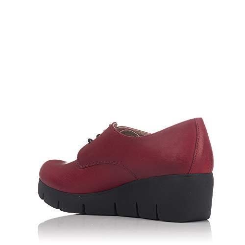 Lince Cordon Zapato Mujer Plataforma Piel 80156 Rojo pqpP4HBz