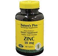(Natures Plus Zinc Tablets - 30 mg, 180 Vegetarian Tablets - Natural Heart Health & Immune Support Supplement, Antioxidant, Memory Enhancer - Gluten Free - 180)