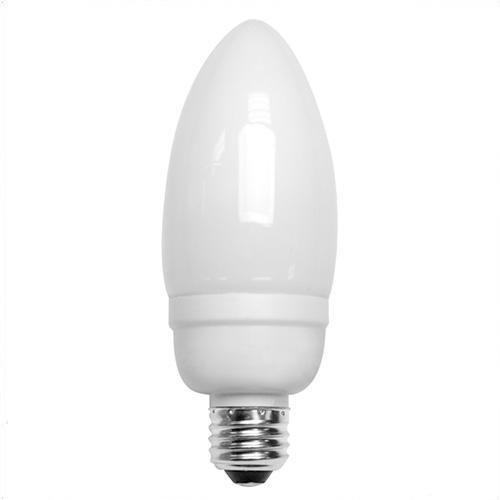 TCP Lighting - 10714C - Decorative Compact Fluorescent Torpedo Lamp - 14 Watt - Medium (E26) Base - 82 CRI - 2700K Warm White ()