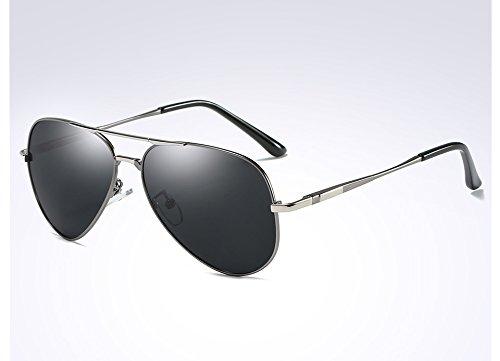 polarizadas Sombras grey HD Lujo UV400 TL Sunglasses Hombres Gafas Guía de Brown silver de Gafas Sol para wqp7HI