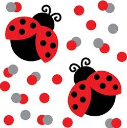 Ladybug Themed Party Confetti - 1/2 ounce bag by CCV - Party Ladybug Themed