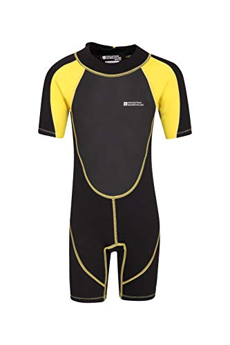 - Mountain Warehouse Junior Shorty Wetsuit - Neoprene Kids Wetsuit Soft Yellow 5-6 years