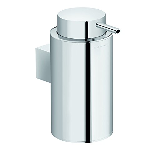 COSMIC Project Soap Dispenser, Wall Mount, Stainless Steel Body, Chrome Finish, 2-9/16 x 6-1/2 x 4-5/16 Inches (2510105) by DAX