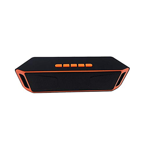 Wireless Outdoor Bluetooth Speaker Dual Speaker Subwoofer Mini (Orange)