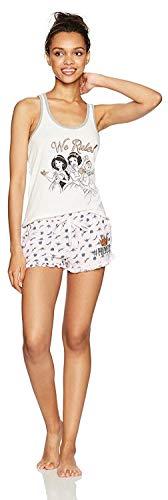 Disney Adult Pjs (Disney Women's Princess 2 Piece Shorty Pajama Set, Pink,)