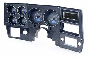 73-87 Chevy Truck VHX System, Carbon Fiber Face - Blue Display