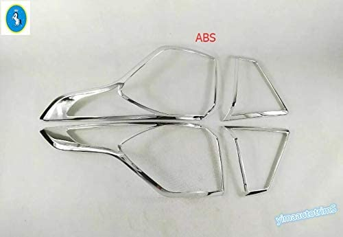 Exterior Parts Ytn Accessories Abs Chrome Rear Tail Light Lamp Frame Cover Trim 4 Pcs for Ford Kuga//Escape 2017 2018