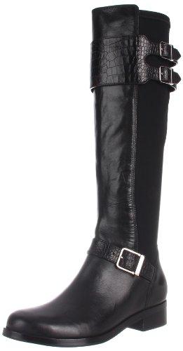 Cole Haan Womens Tennley Buckle Knee-High Boot Black T4YKG