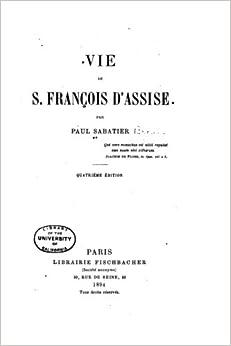 Book Vie de S. François d'Assise (French Edition)