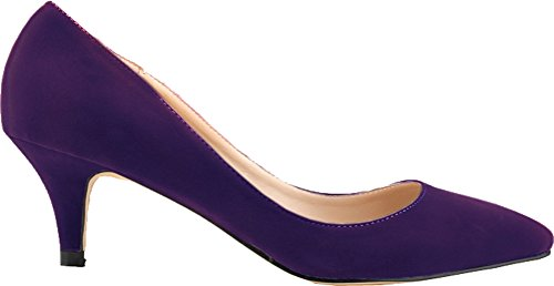 Salabobo Womens Sexy Wedding Bride Bridesmaid OL Night Party Work Peep Toe Mid Heel Cloth Sandals Purple
