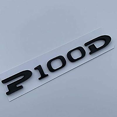 "Brand New Rear Emblem Word /""P100D/"" Badge Decal For Tesla Model S Model X P100D"