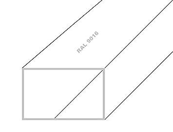 Aluminium Quadratrohr Vierkantrohr 60x60x2mm 500mm Anthrazit RAL7016