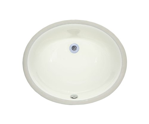 Xylem CUM177OV-LN 18-Inch Undermount Oval Vitreous China Sink, Linen