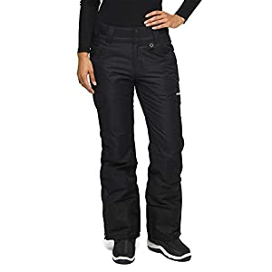 Arctix Women's Snow Sports Insulated Cargo Pants, Black, Medium (8-10) Regular