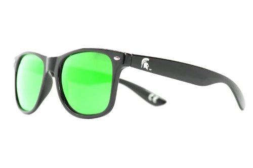 NCAA Michigan State Spartans  MIST-5 Black Frame, Green Lens Sunglasses, Black, One - Sunglasses Spartan