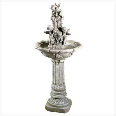 Polystone Cherub (Playful Cherubs Garden Water Fountain)