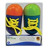 Imaginarium Discovery Lacing Shoes - Wooden with Multi - Colors - Make Learning to tie Shoes Fun!!