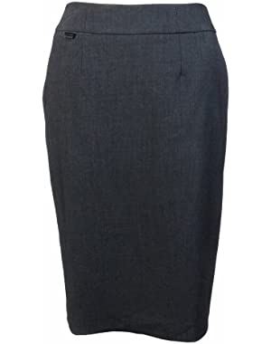 Calvin Klein Women's Stretch Penicl Suit Skirt Charcoal (16) [Apparel]