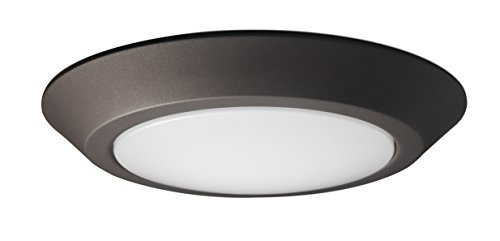 (Nuvo 62/1163 One Light Flush Mount, 7 inch Diameter, Mahogany Bronze)