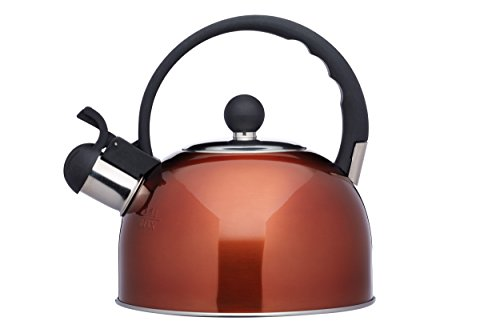 KitchenCraft Le'Xpress Induction-Safe Whistling Stove Top Kettle, Stainless...