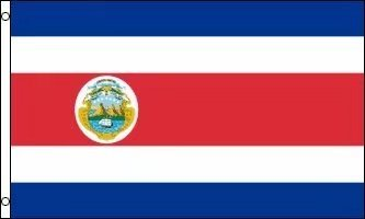 amazon com costa rica flag 3ftx5ft polyester garden outdoor
