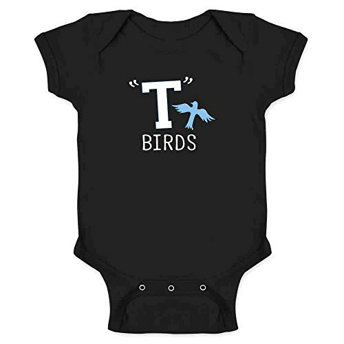 T Birds Gang Logo Costume Retro 50s 60s Black 6M Infant Bodysuit ()