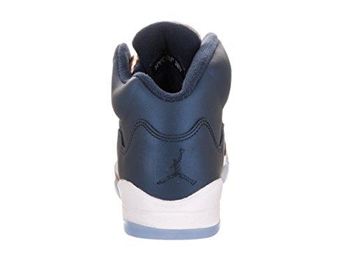 Nike Air Jordan 5 Retro Bg, Zapatillas de Baloncesto para Hombre Negro (Obsidian / Obsidian-Mtlc Red Bronze-White)
