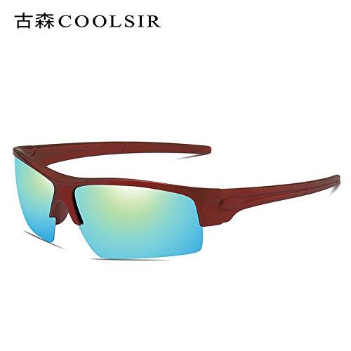 Sol de Rojo de Deportes 1 nbsp;Colores frame Espejo Deportivas 1 Hombre Aire Montar Mjia polarizados Red Gafas al de Libre sunglasses Gafas nbsp;polarizadas Marco aHxYA