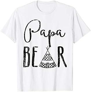 ⭐️⭐️⭐️ Papa Mama Bear  - Papa Bear Camping For Father Need Funny Short/Long Sleeve Shirt/Hoodie