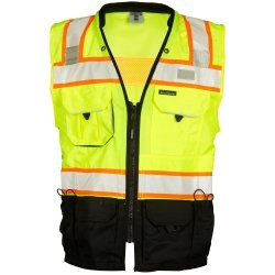 ML Kishigo - Premium Black Series Surveyors Vest - Lime Size: 2X-Large