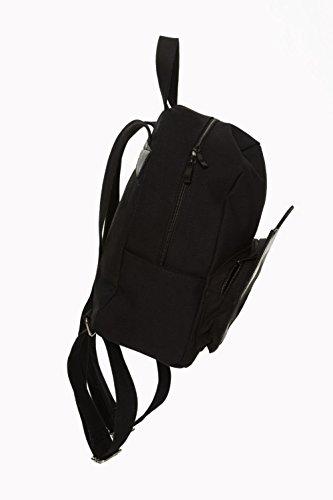Banned - Bolso mochila  de poliéster para mujer negro negro