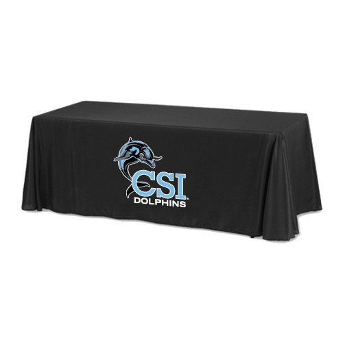 College of Staten Island Black 8 foot Table Throw 'Official Logo' by CollegeFanGear