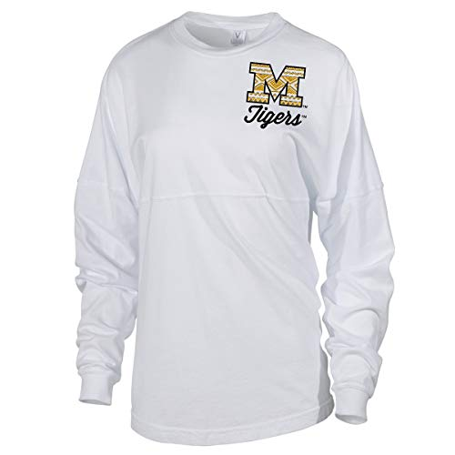 Official NCAA Missouri Tigers MU Womens Spirit Wear Jersey T-Shirt XL -