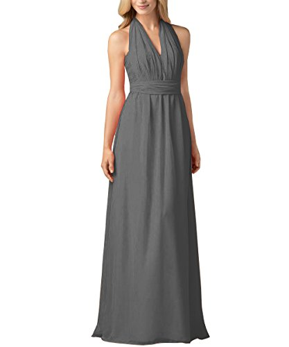 Chiffon Halter Wrap Dress - 3