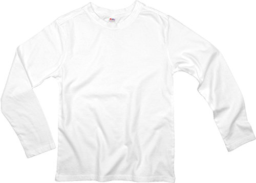Earth Elements Big Kid's (Youth) Long Sleeve T-Shirt Medium White