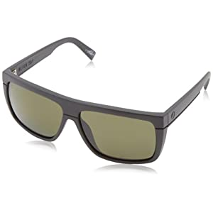 Electric Men's black Top EE12801042 Polarized Square Sunglasses, Matte black - Ohm Polarized Grey, 52 mm