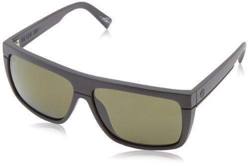Electric Visual Black Top Matte Black/OHM Polarized Grey - Polarized Electric Sunglasses