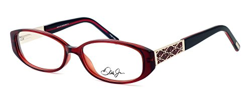 Dale Earnhardt Jr. 6722 Designer Reading Glasses in Burgundy. Custom made using eyeglass frames and prescription reader lenses. - Custom Made Eyeglasses