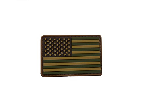- MINI United States American Flag PVC Silicone Rubber Patch Tactical Military Uniform Velcro Patch 2