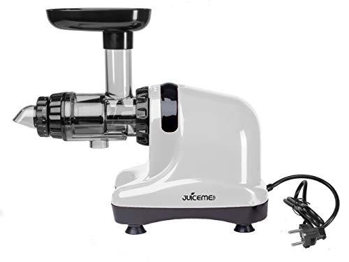 JUICEME DA 1000 - Extractor de Zumos - Extractor de Zumos Lento Horizontal - Más Limpieza y Menos Trabajo - Multifuncional - Material Libre de BPA (Blanco): ...