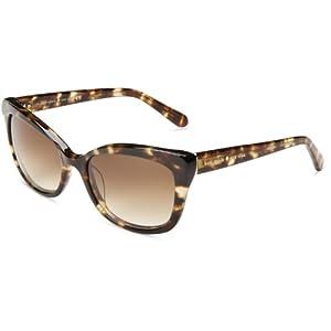 Kate Spade Women's Amaras Cat-Eye Sunglasses,Tortoise,55 mm