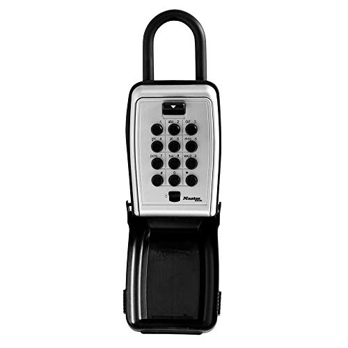 - Master Lock 5422D Set Your Own Combination Portable Push Button Lock Box, 5 Key Capacity, Black