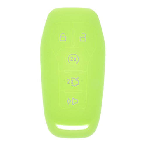 Jili Online Replacement Remote Keyless Entry Key Case Fob For Ford Edge Explorer Mustang - luminous green ()